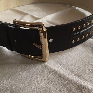 MK Dark Brown Belt With Studs
